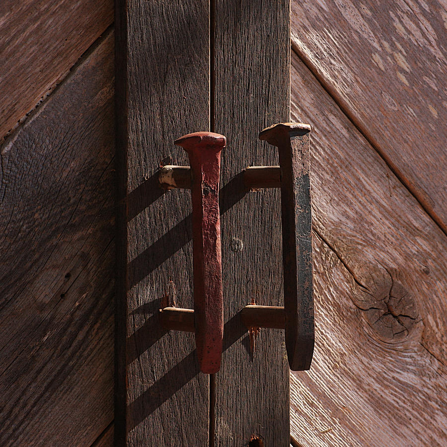 Railroad Spike Handles Photograph by Art Block Collections