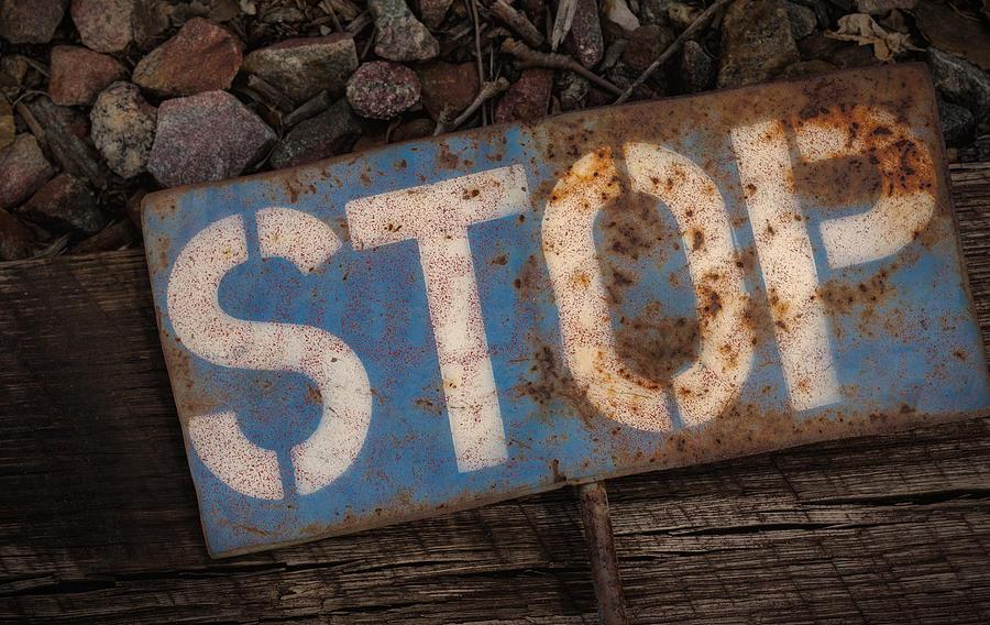 Railroad-stop Sign Photograph by Joe Gemignani