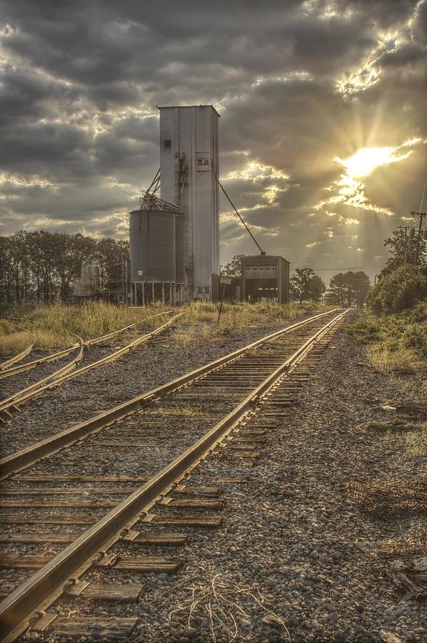 Railroad Photograph - Railroad Sunrise by Jason Politte
