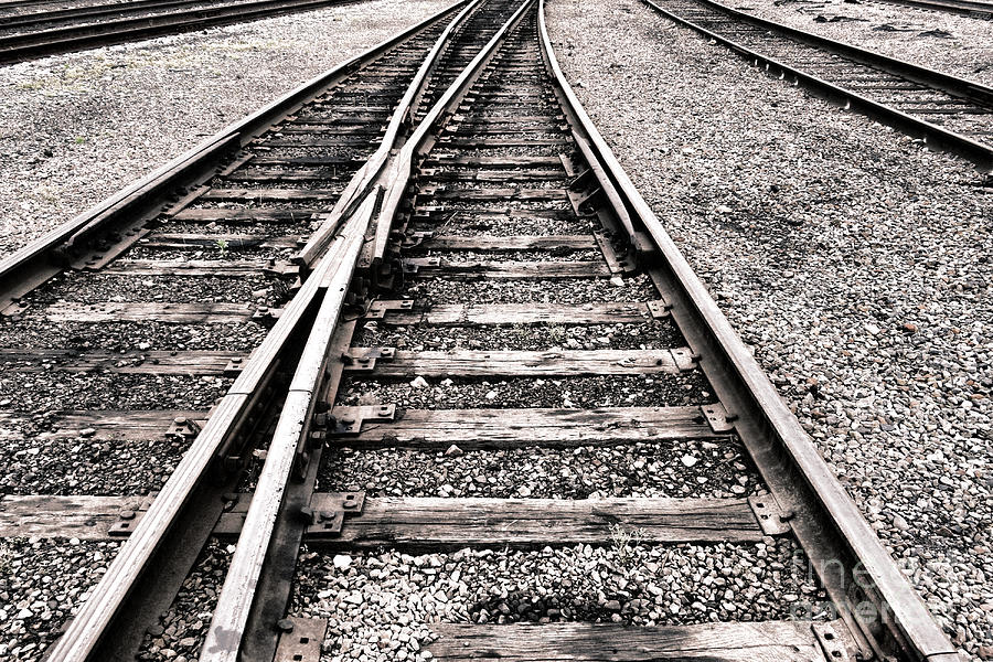 Railroad Switch Photograph By Olivier Le Queinec