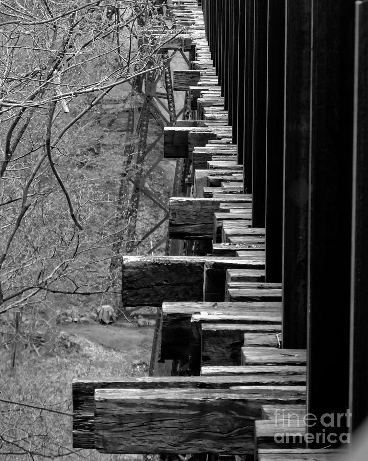 Railroad Ties on Trestle Bridge by Kristen Fox
