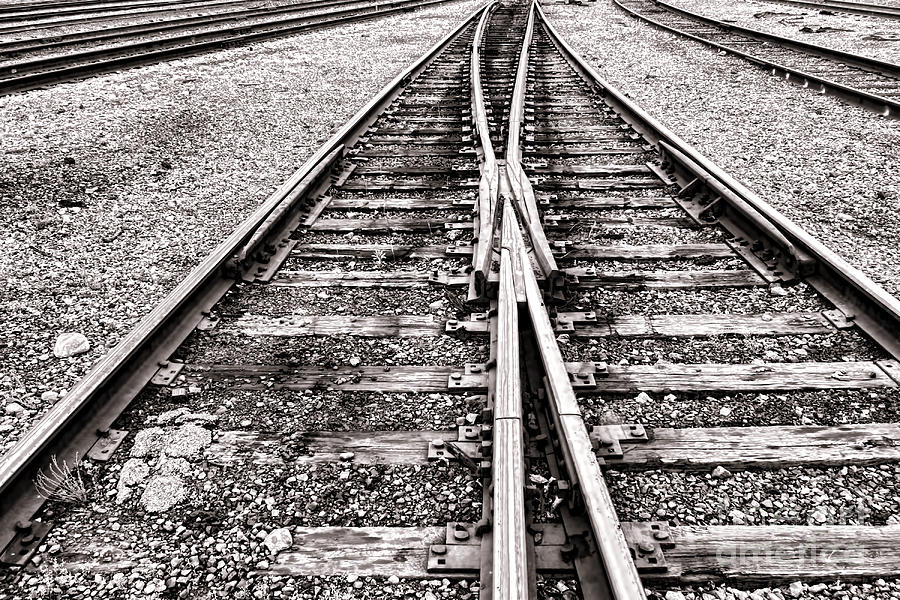 Railroad Photograph - Railroad Tracks by Olivier Le Queinec