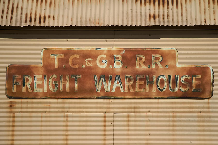 Railroad Photograph - Railroad Warehouse by Robert Bascelli