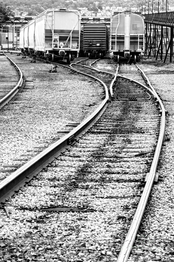 Train Photograph - Railroad Yard by Olivier Le Queinec