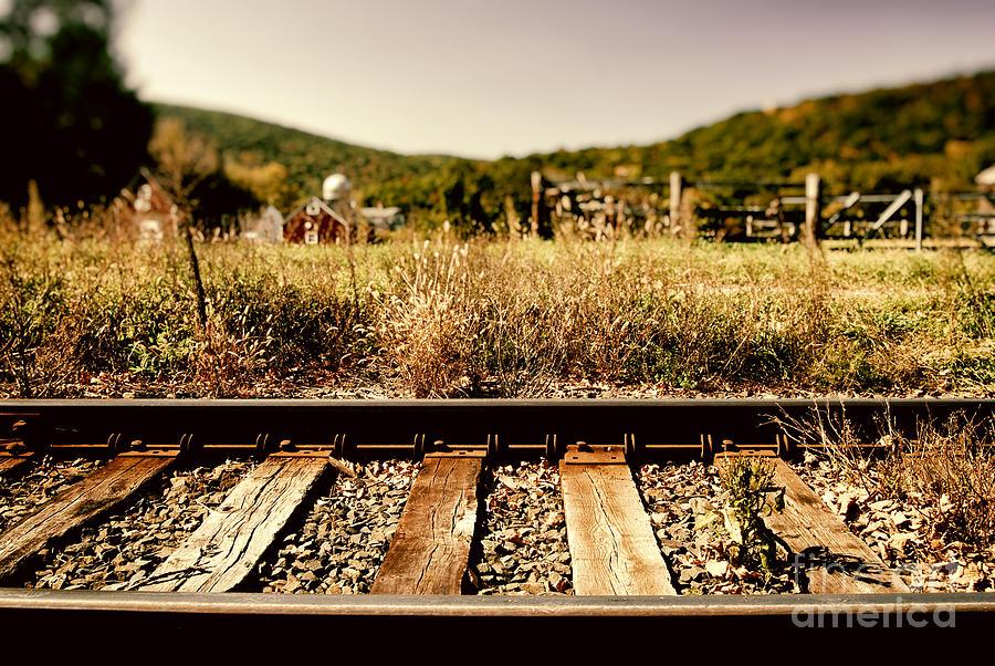 Railtracks And Farm Photograph