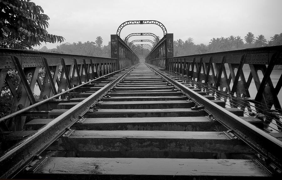 Railway Tracks Photograph - Railway Tracks by Sanjeewa Marasinghe