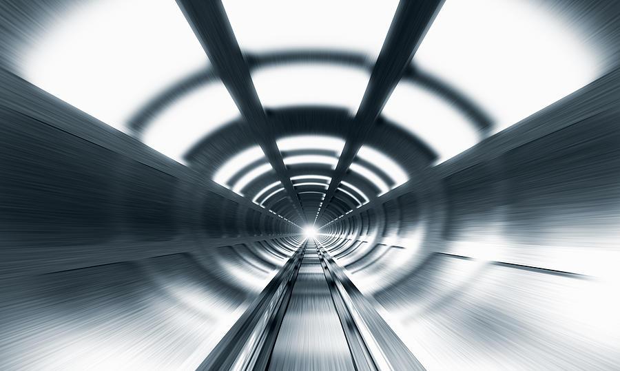 Railway Tunnel Digital Art by Jorg Greuel