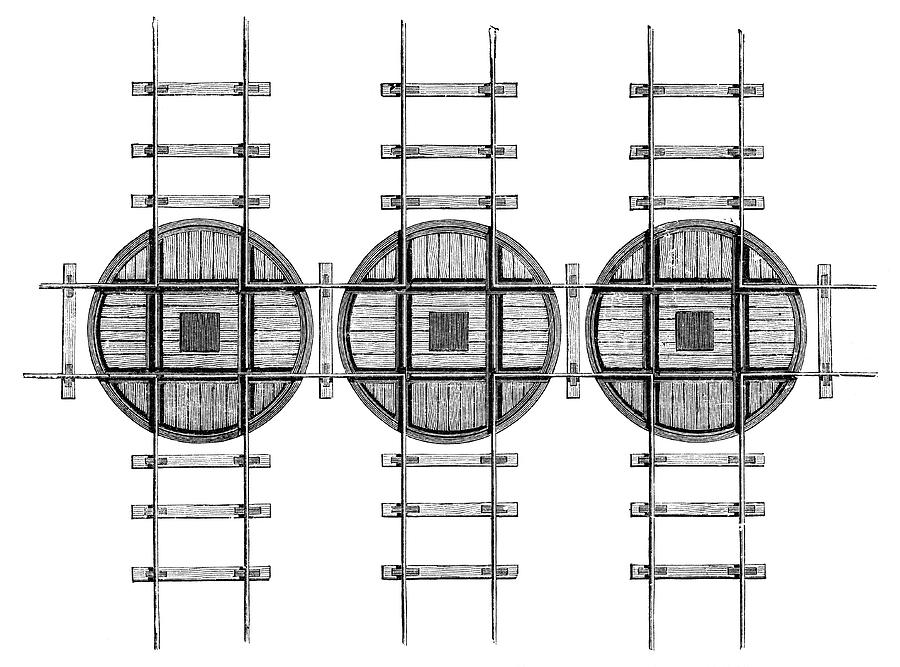 Machine Photograph - Railway Turntables by Science Photo Library