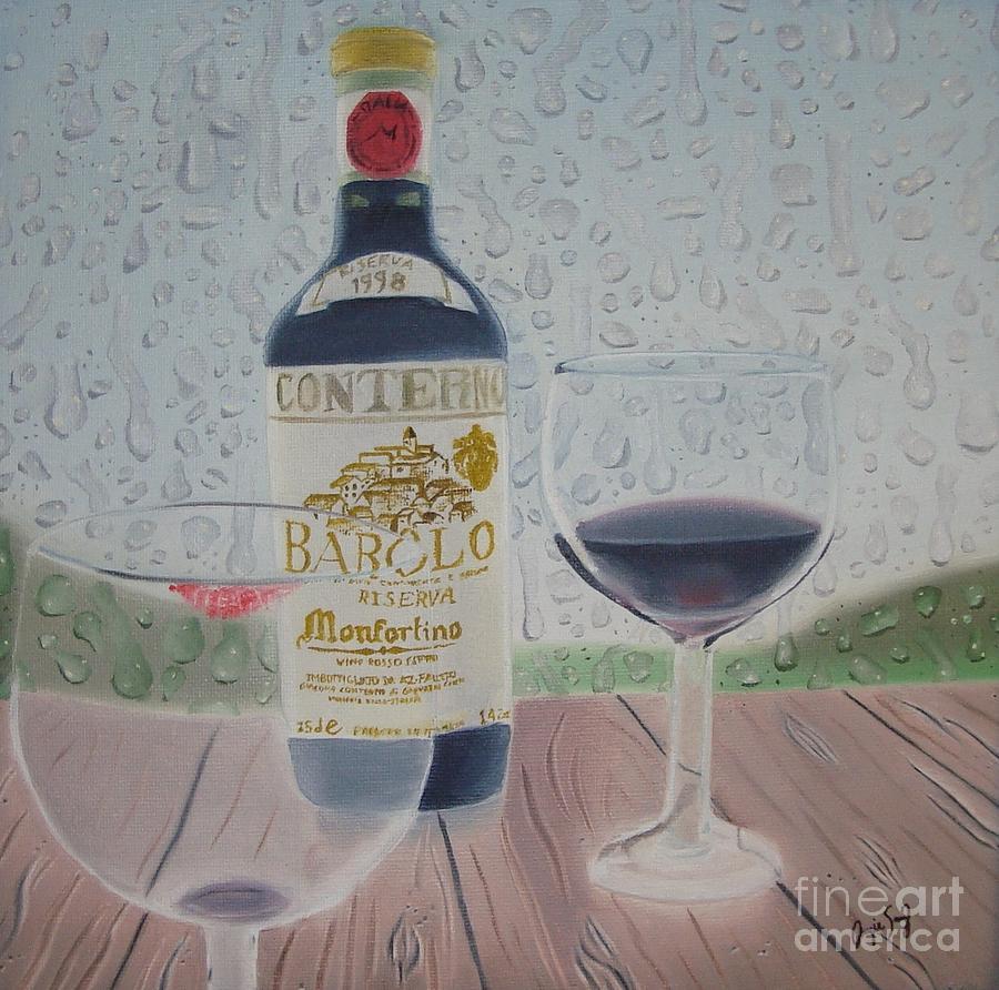 Wine Painting - Rain And Wine by Angela Melendez