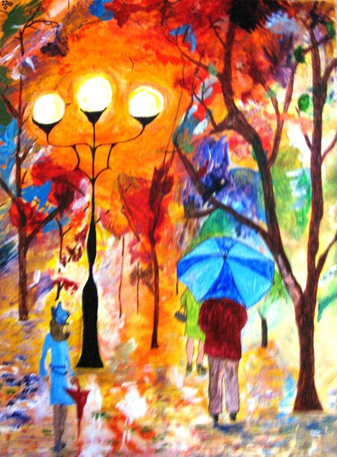 Colors Painting - Rain Dance of Color by MIchelle Reid