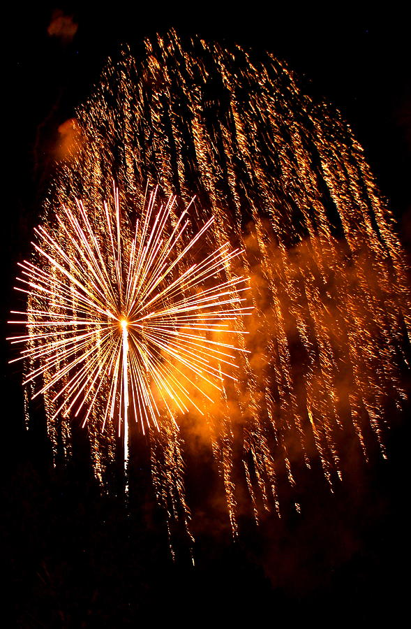 Fireworks Photograph - Rain Down On Me by Angie Wingerd