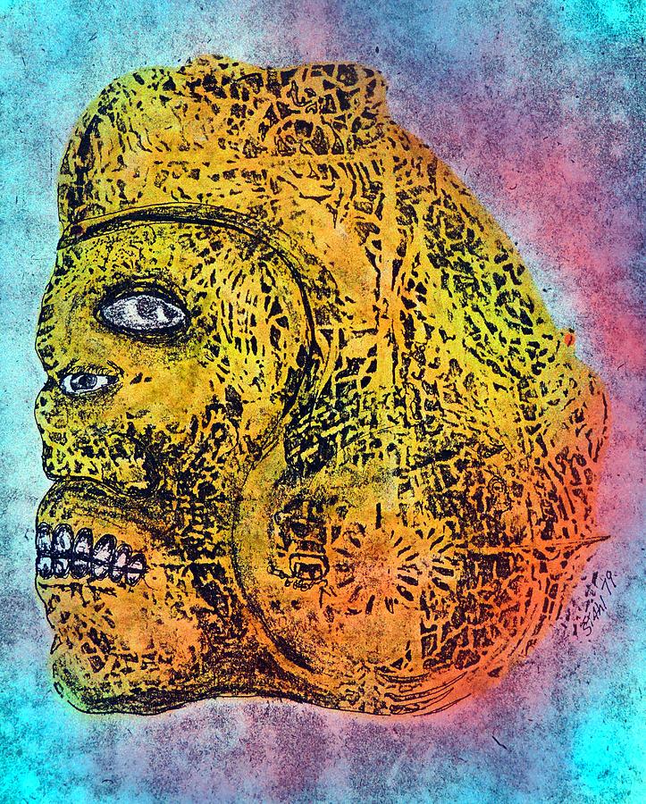 Abstract Mixed Media - Rain God by Dennis Stahl