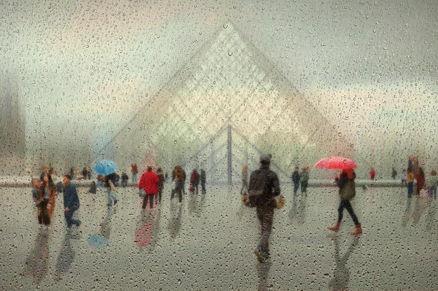 Rain Photograph - Rain In Paris by Roswitha Schleicher-schwarz
