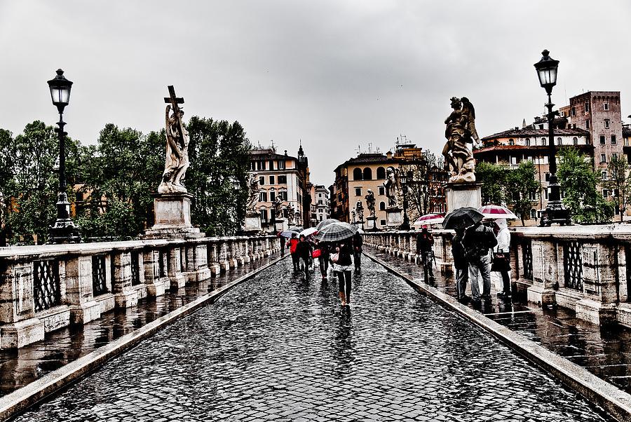 Rain Photograph - Rain In Rome by Francesco Zappala