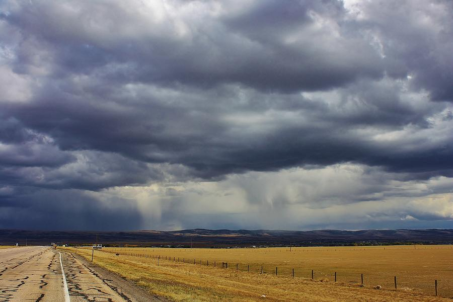 Storm Photograph - Rain In Wyoming by Bruce Bley