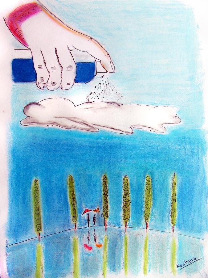 Spray Mixed Media - Rain by Keshava Shukla
