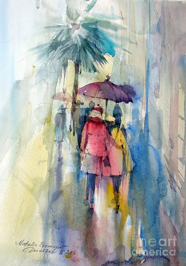 Rain Painting - Rain by Natalia Eremeyeva Duarte
