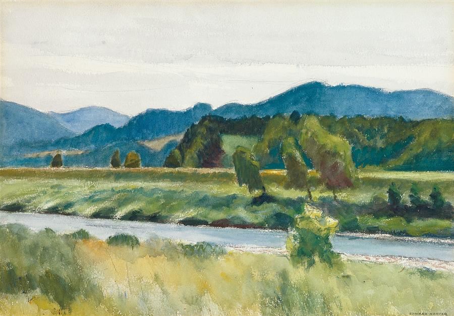 Rain On River Painting By Edward Hopper