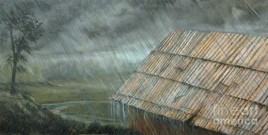Rain On The Roof Painting By Affordable Art Halsey