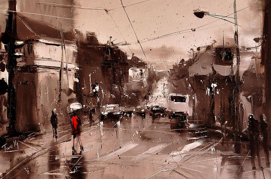 Street Painting - Rain by Timorinelt Tryptykieu