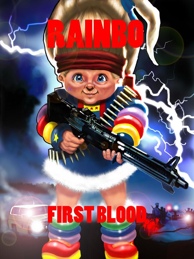 Rambo Digital Art - Rainbo First Blood by Tim Myers