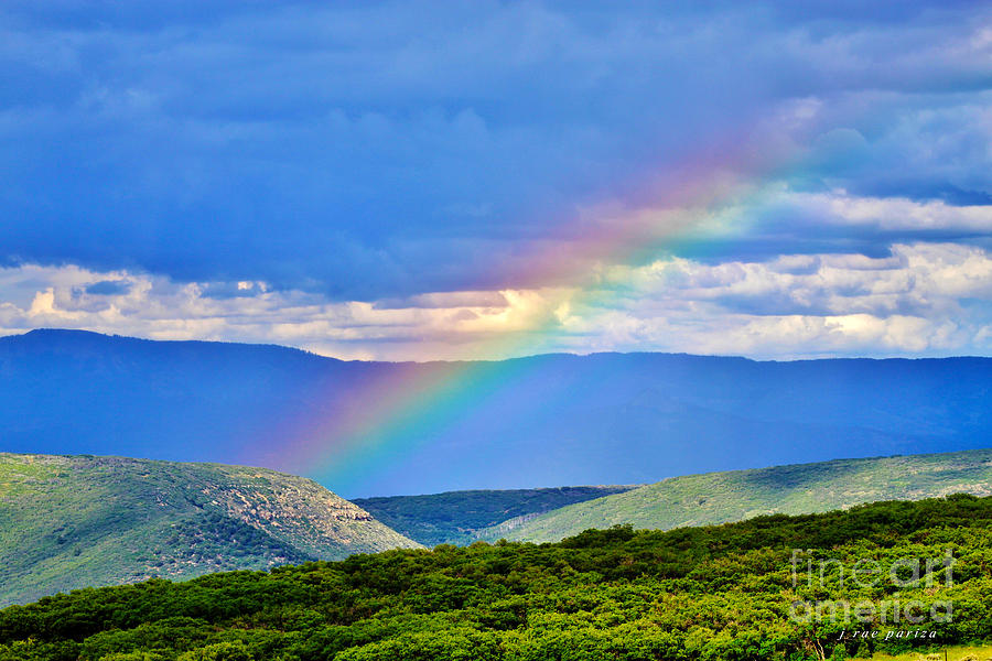 Scenic Photograph - Rainbow Above The Canyon by Janice Rae Pariza