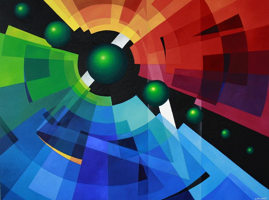 Abstract Painting - Rainbow by Alberto DAssumpcao