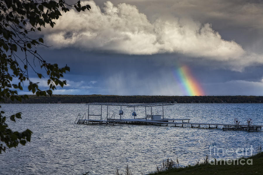 Michigan Photograph - Rainbow At Burt Lake by Timothy Hacker