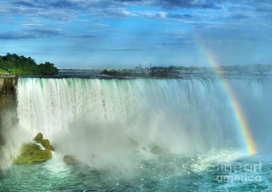 Niagara Falls Photograph - Rainbow At Niagara by Mel Steinhauer