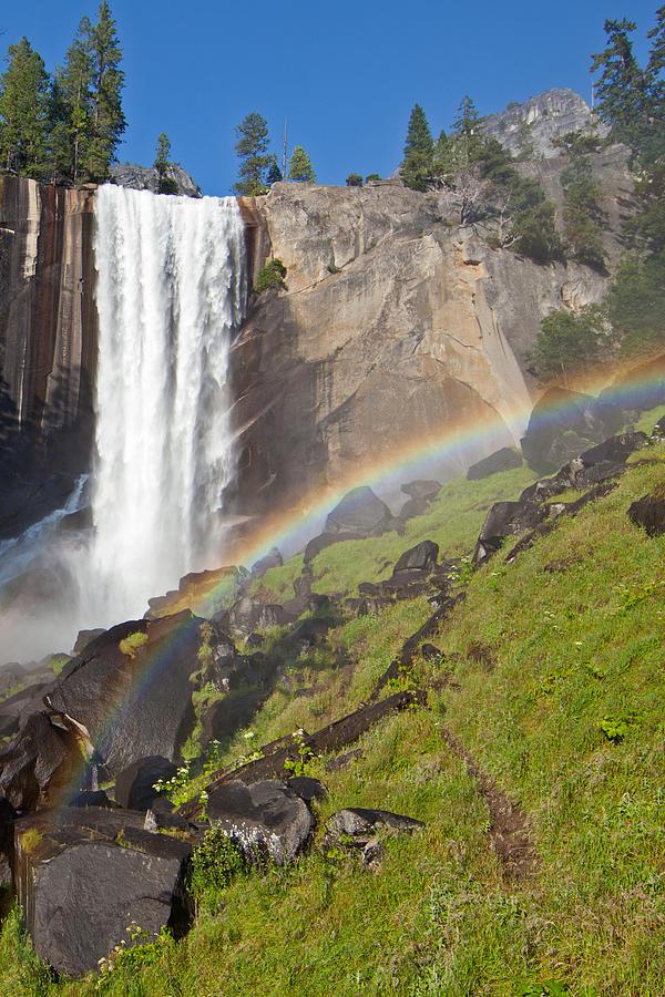 Rainbow Photograph - Rainbow At Vernal Falls Yosemite National Park by Natural Focal Point Photography