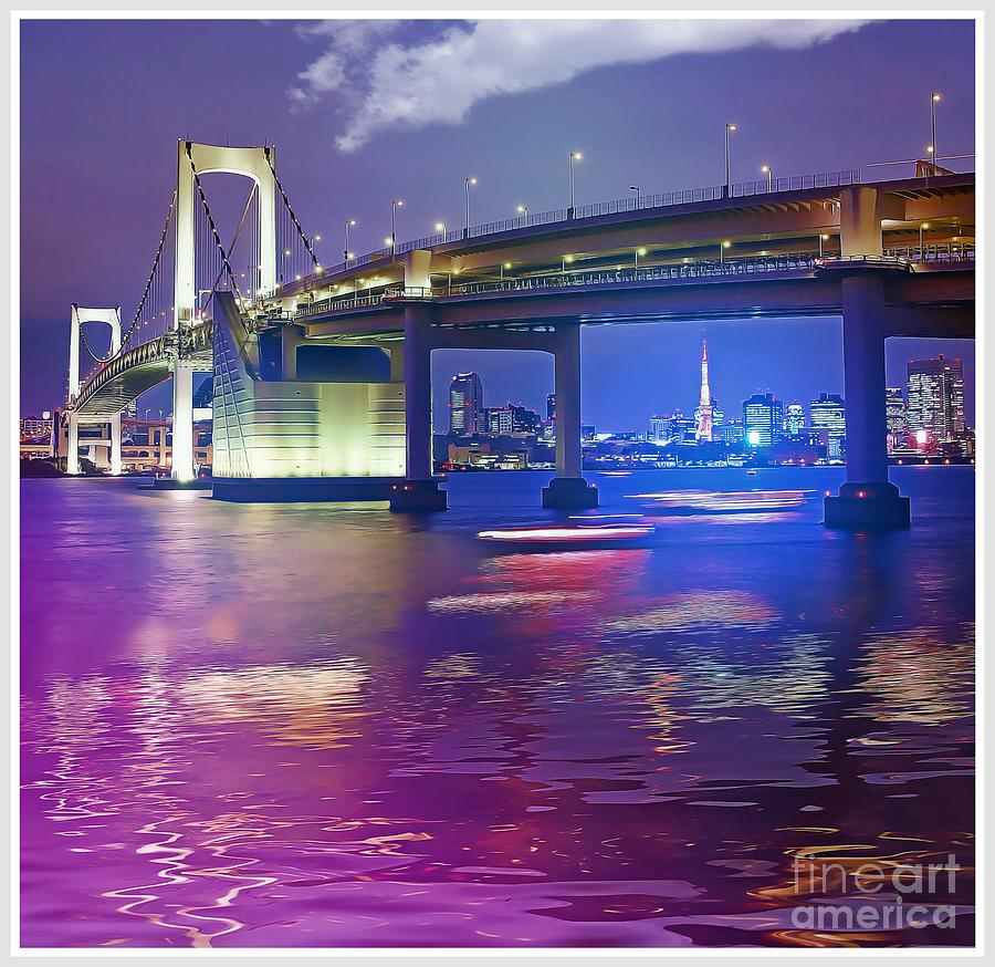 Rainbow Bridge Photograph - Rainbow Bridge At Night by Stefano Senise