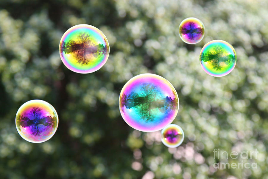 Air Photograph - Rainbow Bubbles by Suzi Nelson