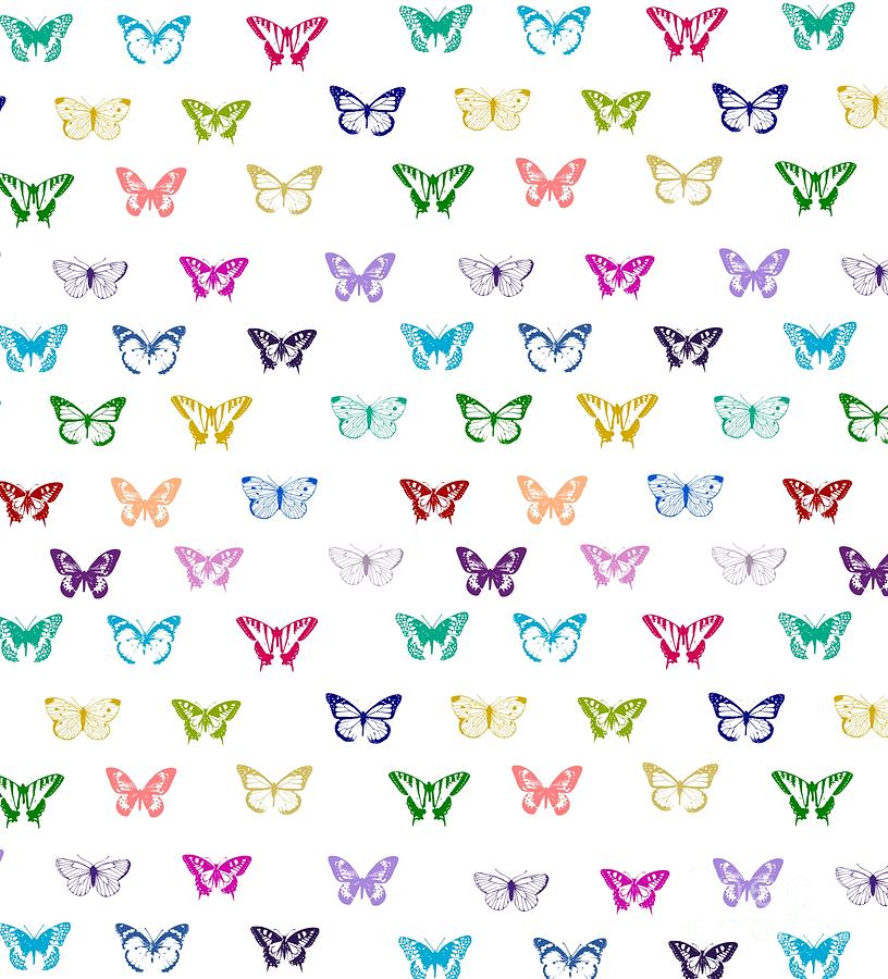 Rainbow Butterfly Pattern Digital Art By Li Or New Butterfly Pattern