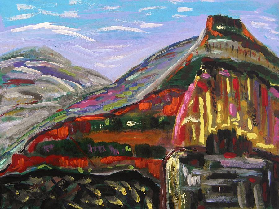 Rocks Painting - Rainbow Canyons by Mary Carol Williams