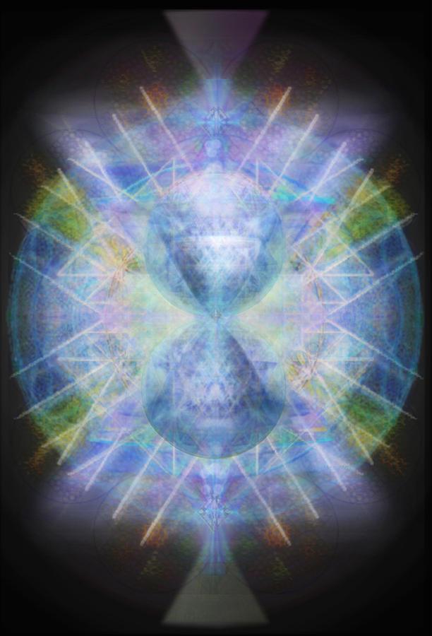 Rainbow Digital Art - Rainbow Chalice Cell Isphere Matrix by Christopher Pringer