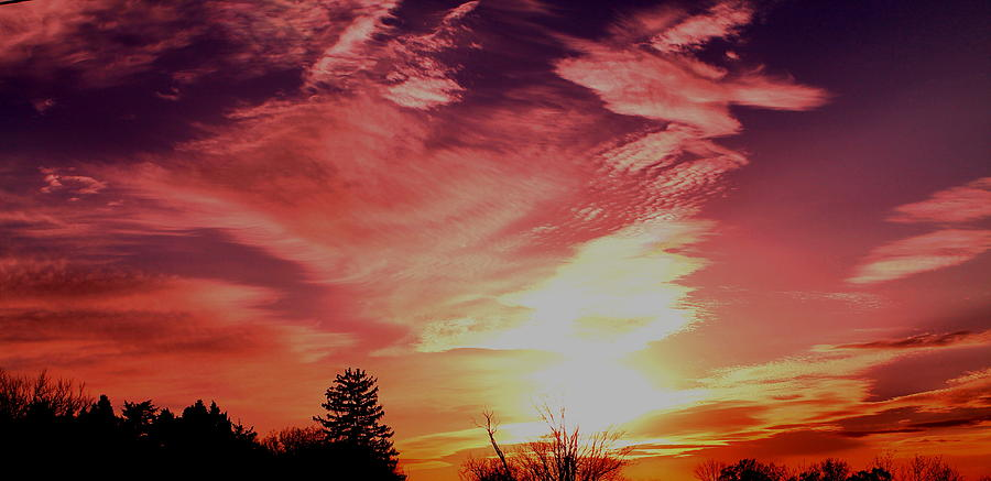 Sunset Photograph - Rainbow Clouds by Candice Trimble