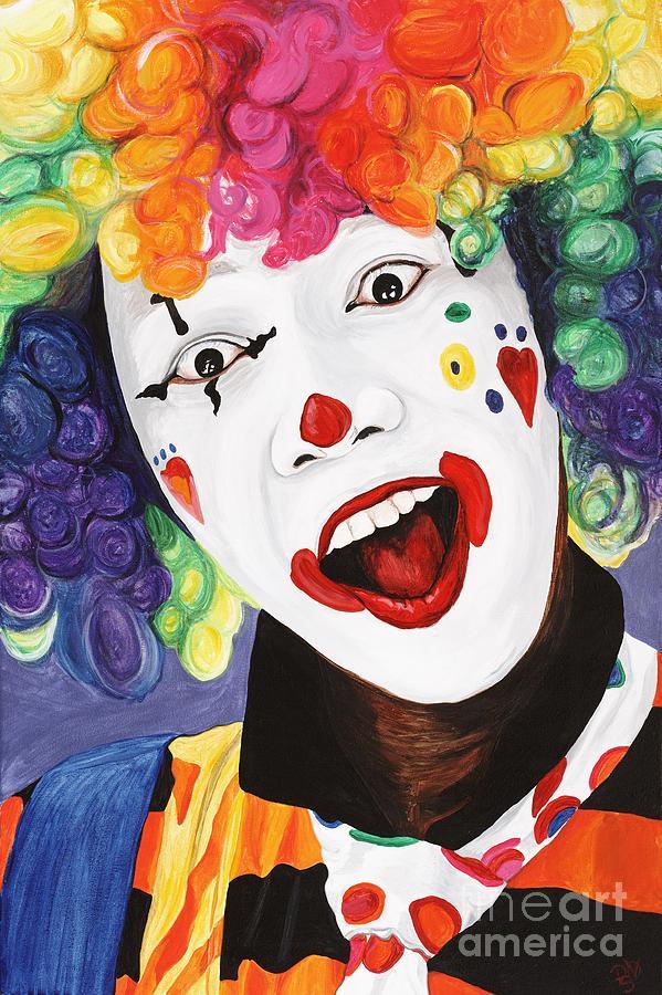 Clown Painting - Rainbow Clown by Patty Vicknair