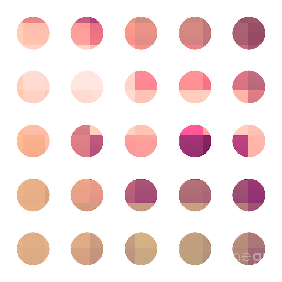 Abstract Painting - Rainbow Dots Rose by Pixel Chimp