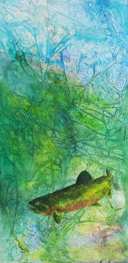 Rainbow Trout Painting - Rainbow Environment by David  Maynard