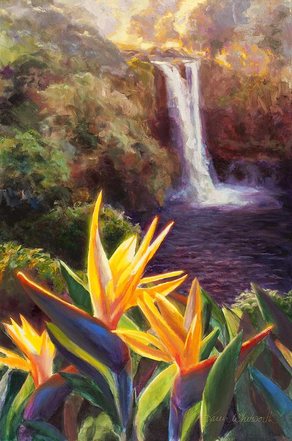 Rainbow Falls Big Island Hawaii Waterfall Painting by ... Wailuku