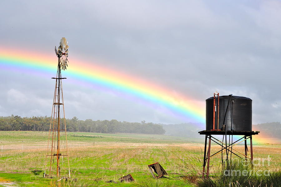 Rainbow Photograph - Rainbow Farm by Coralie Plozza