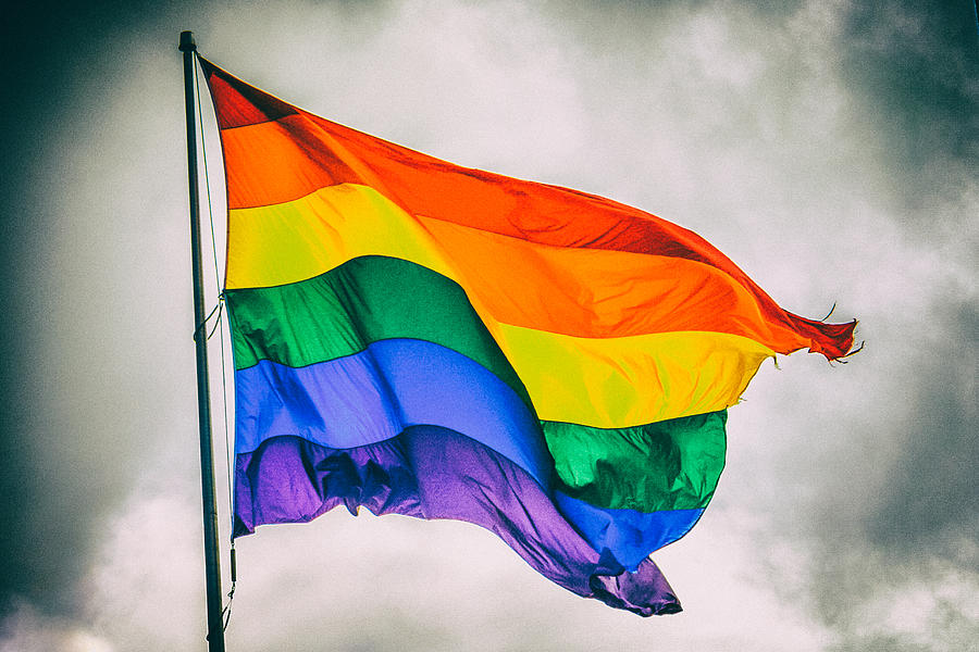 Rainbow Flag Photograph by Ashley L Duffus
