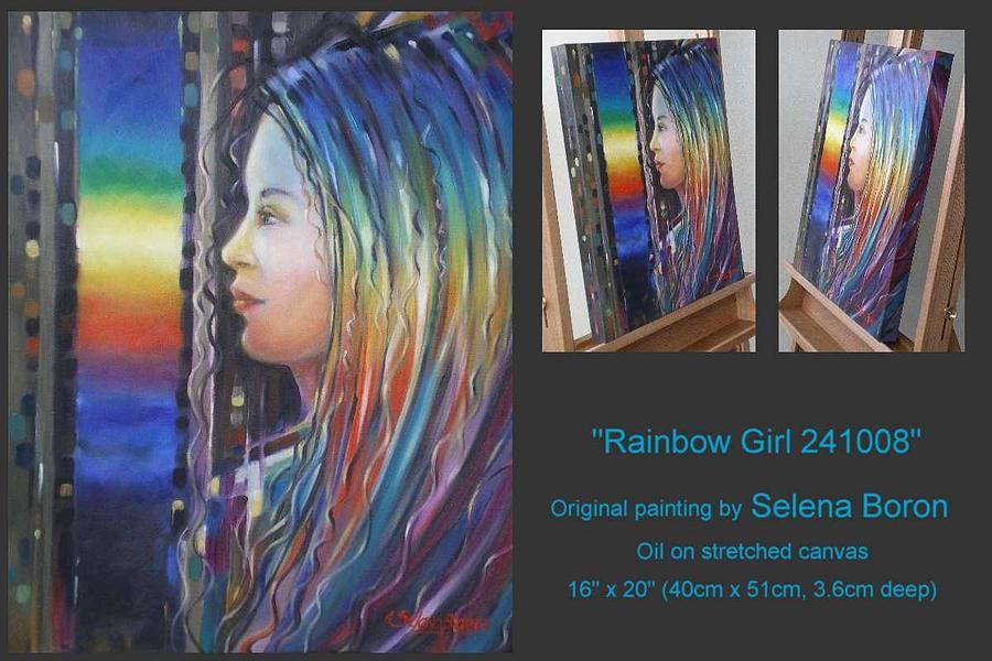 Rainbow Painting - Rainbow Girl 241008 by Selena Boron