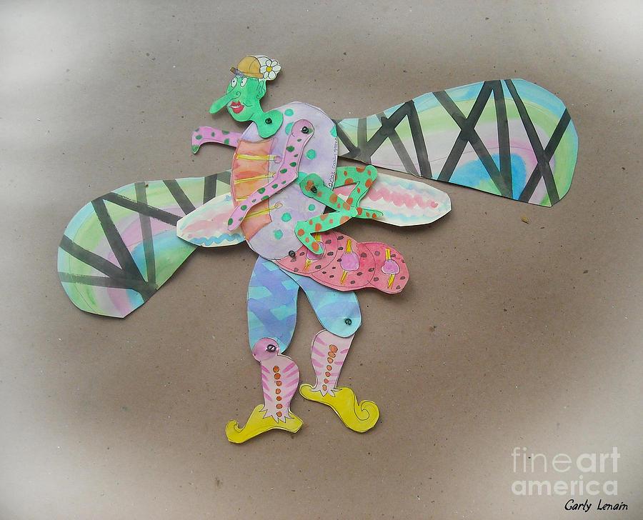 Rainbow Lady Bug 2003 Sculpture by Carly Lenain