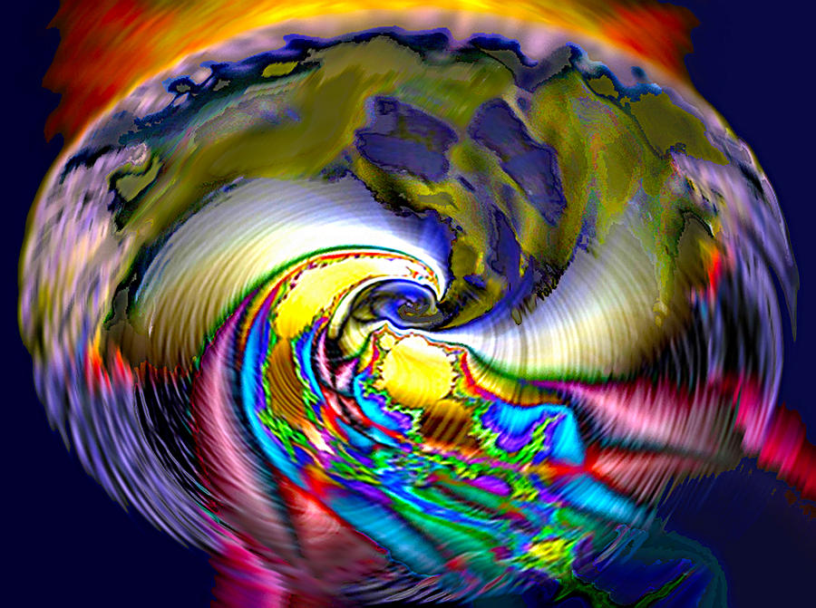 3d Digital Art - Rainbow Liberty V.5 by Rebecca Phillips