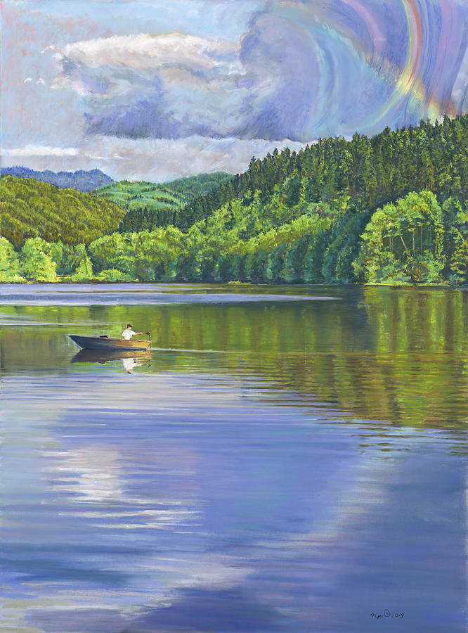Lake Padden - View from the Alex Johnston Memorial Bench by Nick Payne