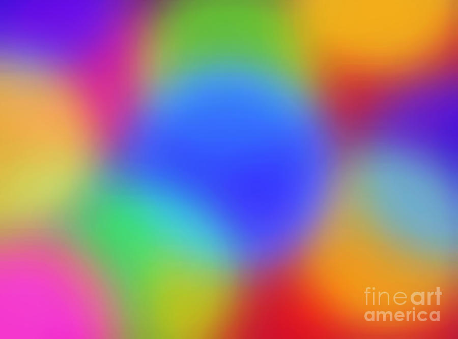 Abstract Digital Art - Rainbow Of Colors by Gayle Price Thomas