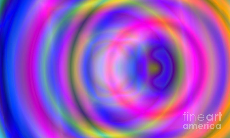 Abstract Digital Art - Rainbow Of Rings by Christy Leigh