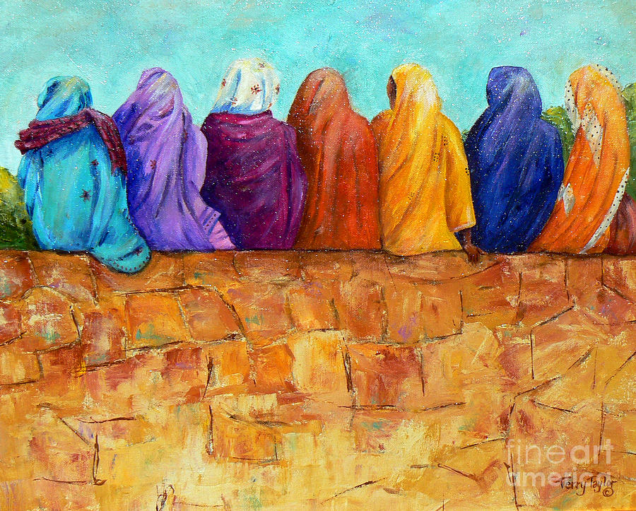Sari Painting - Rainbow On The Wall by Terry Taylor