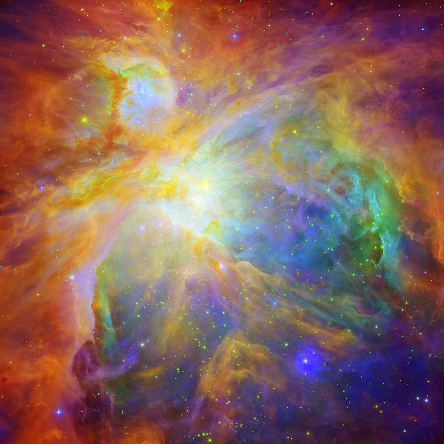 Outer Space Photograph - Rainbow Orion by Georgia Fowler